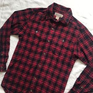 Duluth Trading Co Trim Fit Plaid Flannel Shirt